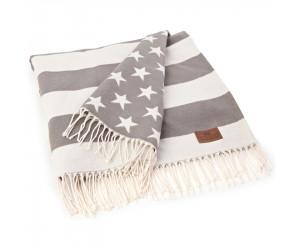 Lexington Decke Flag Throw grau