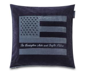 Lexington Dekokissen Arts & Crafts Cotton Velvet blau (50 x 50 cm)