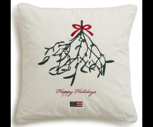 Lexington weihnachtliches Dekokissen Mistletoe Velvet Sham weiß (50x50cm)