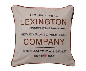 Lexington Dekokissen Logo Sham bedruckt beige (50 x 50 cm)