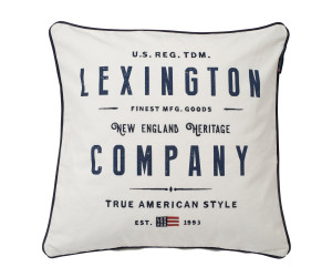 Lexington Dekokissen Logo Sham bedruckt weiß (50 x 50 cm)