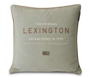 Lexington Dekokissen Logo Canvas Cotton grün/salbei (50 x 50 cm)