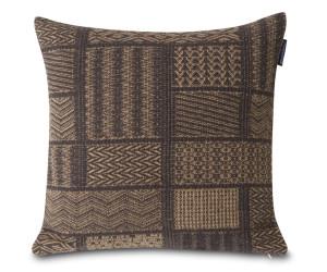 Lexington Dekokissen Patch Artwork Cotton/Wool braun (50 x 50 cm)