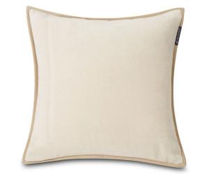 Lexington Dekokissen Velvet Cotton mit Kante off white / gebrochenes weiß (50 x 50 cm)