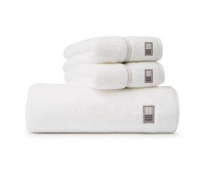 Lexington Handtuch Hotel Towel weiß/beige