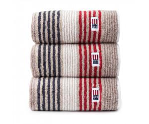 Lexington Handtuch Original Stripe beige/rot