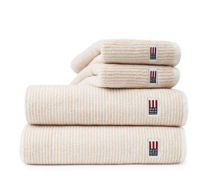 Lexington Handtuch Original Towel white/beige (4 Größen)
