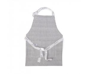 Lexington Kochschürze Authentic Stripe Oxford graphit-weiß