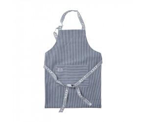 Lexington Kochschürze Authentic Stripe Oxford navy/weiß
