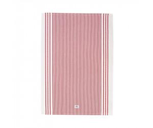 Lexington Küchentuch Living Authentic Stripe Oxford rot/weiß