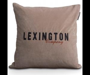Lexington Samt Dekokissen Logo Velvet Sham beige (50x50cm)
