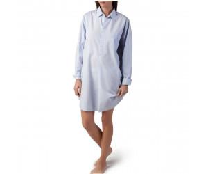 Lexington Nachthemd Basic hellblau/weiß gestreift (S)