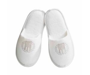Lexington Pantoffeln Hotel Velour Slippers weiß (4 Größen)