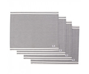 Lexington Platzset Living Authentic Stripe Oxford graphit/weiß