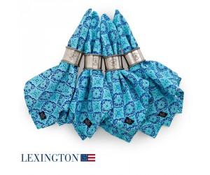 Lexington Serviette Printed Tile blau