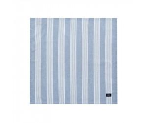 Lexington Serviette Striped in blau/ weiß 6 er Set