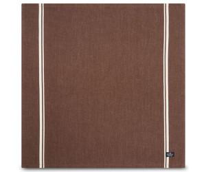 Lexington Servietten Striped Napkin Cotton Twill braun / weiß gestreift (50 x 50 cm) 6 Stk