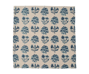 Lexington Servietten Vintage Flower Napkin blau/beige gemustert (50 x 50 cm) 6 Stk