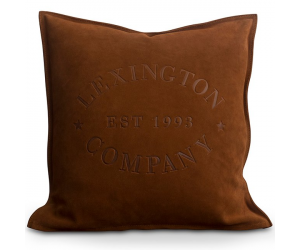 Lexington Wildleder Dekokissen Suede Logo Sham rostrot (50x50cm)