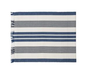 Lexington Tischläufer Striped Fringe Runner blau/weiß gestreift (50 x 250 cm)