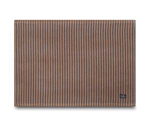 Lexington Tischset Striped Cotton Rib Placemat blue /dk beige gestreift (40 x 50 cm) 6er Set