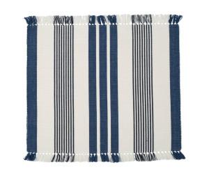 Lexington Tischset Striped Fringe Placemat blau/weiß gestreift (40 x 50 cm)