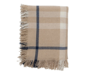Lexington Wolldecke Checked Wool Throw beige/weiß kariert (130 x 170 cm)