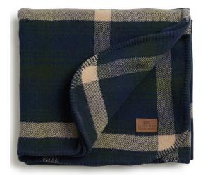Lexington Wolldecke Checked Wool Bed Blanket blau-grün kariert (140x200cm)