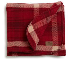 Lexington Wolldecke Checked Wool Bed Blanket rot-beige kariert (140x200cm)