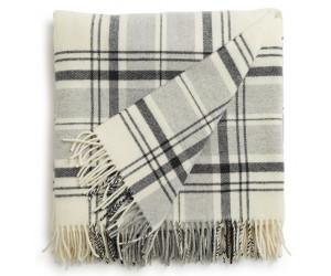Lexington Wolldecke Classic Wool Throw grau-weiß (130x170cm)