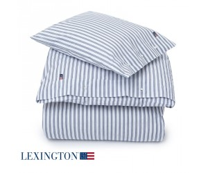 Lexington Bettwäsche Popline Stripe blau
