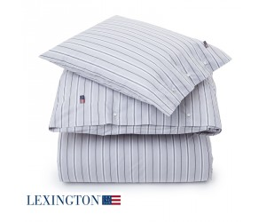 Lexington Bettwäsche Popline Stripe grau