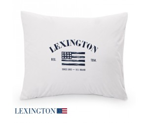 Lexington Kissenbezug Printed Logo weiß