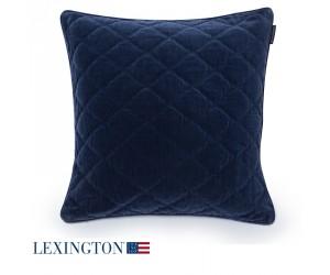 Lexington Dekokissen Velvet Sham blau