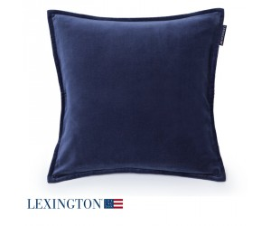 Lexington Dekokissen Velvet Sham blau