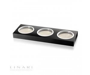 Linari dreifach Untersetzer Acryl