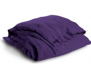Lovely Linen schwere Leinen Bettwäsche Lovely aubergine