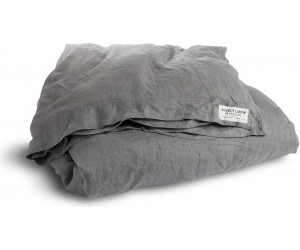 Lovely Linen vorgewaschene Leinen Bettwäsche Misty dunkelgrau
