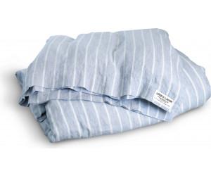 Lovely Linen vorgewaschene Leinen Bettwäsche Misty Stripe blau weiß gestreift