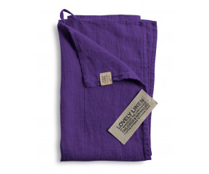 Lovely Linen Leinen Handtuch Lovely violett