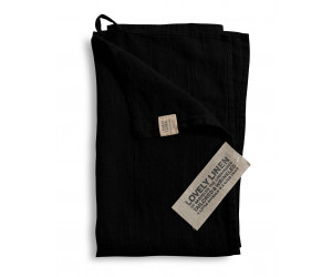 Lovely Linen Leinen Handtuch Lovely schwarz