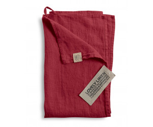 Lovely Linen Leinen Handtuch Lovely weinrot