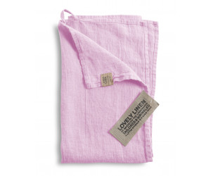 Lovely Linen Leinen Handtuch Lovely rosa