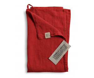Lovely Linen Leinen Handtuch Lovely rot