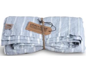 Lovely Linen Leinen Tischwäsche Misty Stripe blau weiß gestreift