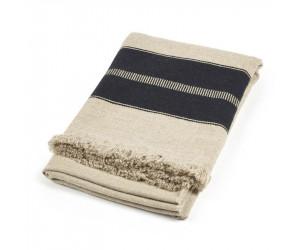 Libeco Plaid Marshall Multi Stripe schwarz/beige (140 x 220cm)