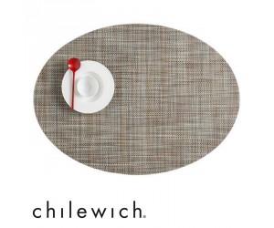 Chilewich Set Oval Mini Basketweave pistachio