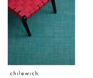 Chilewich Teppich Mini Basketweave turquoise