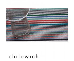 Chilewich Teppich Mixed Stripe candy