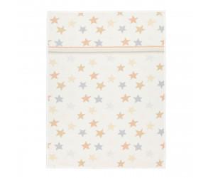 Feiler Stars & Stripes Border Chenille Babydecke 75 x 100 cm (weiß)